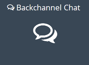 BackChannel Chat - Realtime discussions for your classroom